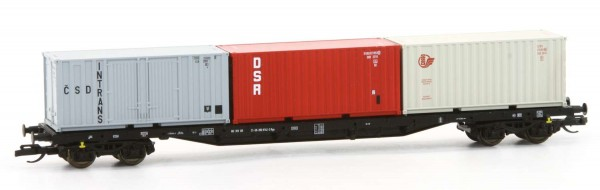 Tillig 18127 - Containertragwagen Rgs 3910 mit Containern, DR, Ep.IV