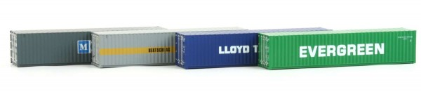 Hobbytrain H70500-A18 - 4er Set 40' Container