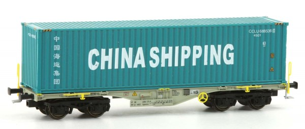 Rocky-Rail RR-40124 - Containerwagen Sgmmns 40, VTG/AAEC, Ep.VI 'China Shipping'