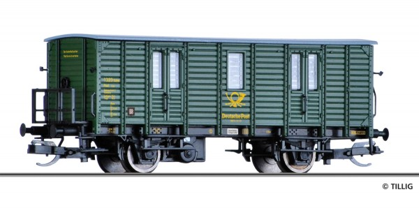 Tillig 17340 - Bahnpostwagen Post-p/8,5, DR, Ep.III 'Deutsche Post'