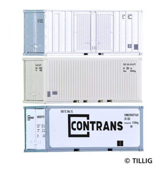 Tillig 07714 - 3er Set Container 20'